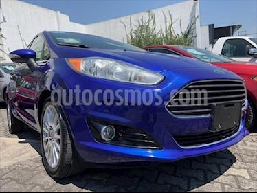 Ford Fiesta Sedan TITANIUM L4/1.6 AUT usado (2015) color Azul Electrico precio $154,999