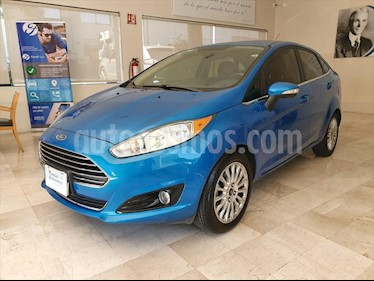 Ford Fiesta Sedan 4P TITANIUM L4 1.6 AUT usado (2015) color Azul Claro precio $159,000
