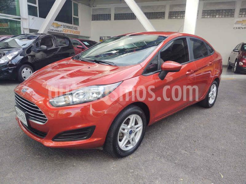 Ford Fiesta Sedan SE Aut usado (2019) color Naranja precio $219,000
