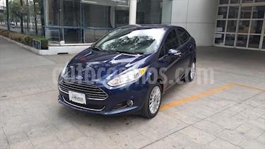 Ford Fiesta Sedan TITANIUM L4/1.6 AUT usado (2016) color Azul Marino precio $185,000