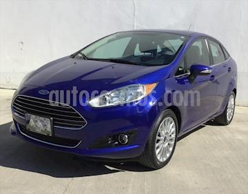 Ford Fiesta Sedan TITANIUM L4/1.6 AUT usado (2015) color Azul Marino precio $160,000