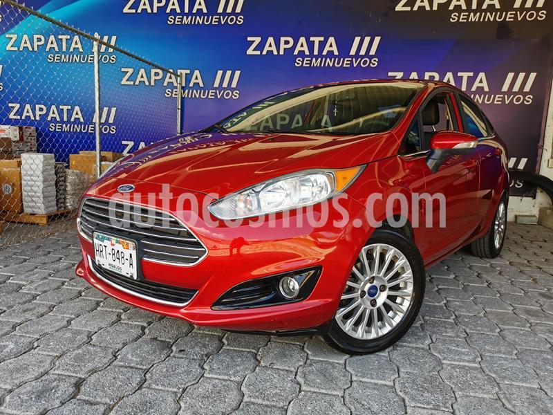 Ford Fiesta Sedan Titanium usado (2016) color Rojo Rubi precio $155,000