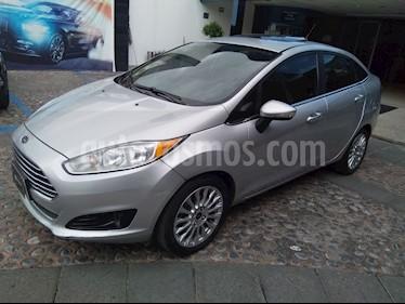 Foto venta Auto usado Ford Fiesta Sedan Titanium Aut (2016) color Plata Estelar precio $195,000