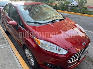 Foto venta Auto usado Ford Fiesta Sedan Titanium Aut (2016) color Rojo Rubi precio $189,000