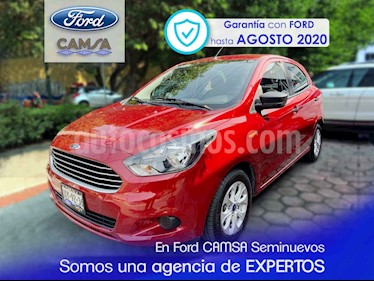 Foto venta Auto usado Ford Figo Hatchback Energy Aut (2017) color Vino Tinto precio $174,900