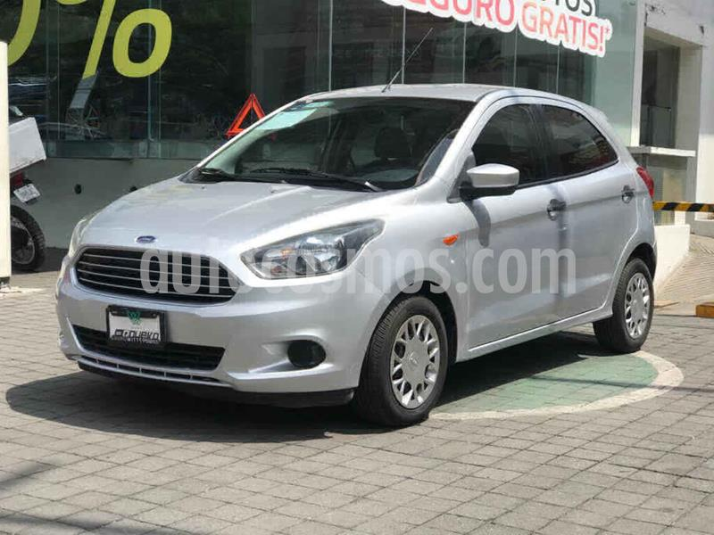 Ford Figo Hatchback Impulse Aut A/A usado (2017) color Plata precio $155,000