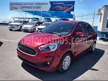 Ford Figo Sedan Impulse Aut A/A usado (2019) color Rojo precio $185,000