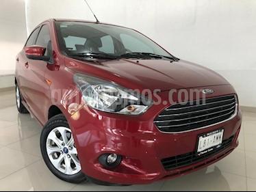 Foto venta Auto usado Ford Figo Sedan Titanium Aut (2017) color Rojo Rubi precio $174,900
