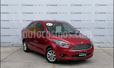 Foto venta Auto usado Ford Figo Sedan Titanium Aut (2017) color Rojo Rubi precio $183,000