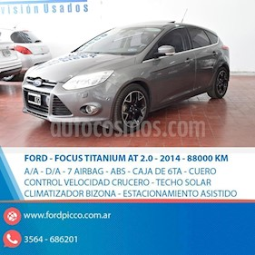 Foto venta Auto usado Ford Focus One 5P Ambiente 1.6 (2014) color Gris Oscuro precio $625.000