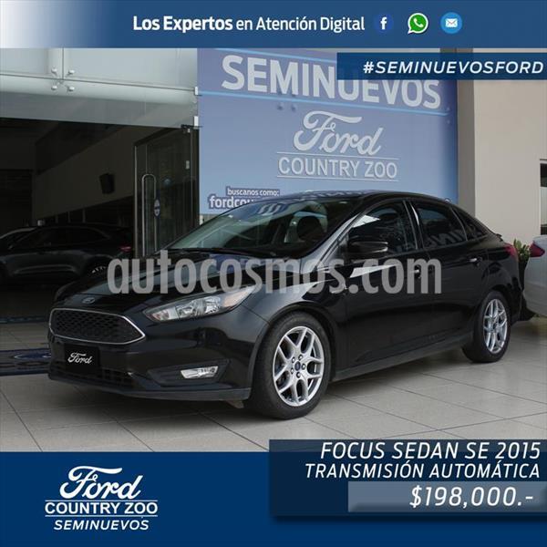 Ford Focus SE 4 PTAS AT usado (2015) color Negro precio $198,000