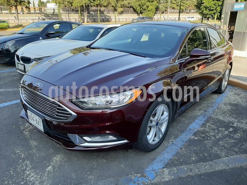 Ford Fusion SE LUX Hibrido usado (2018) color Rojo precio $425,000