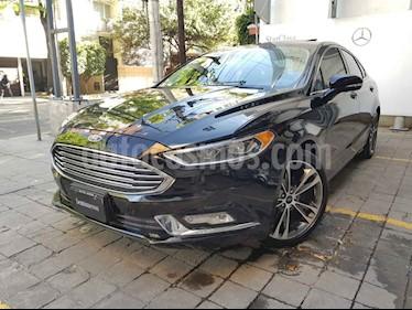 Ford Fusion 4p Titanium Plus L4/2.0/T Aut usado (2017) color Negro precio $295,000