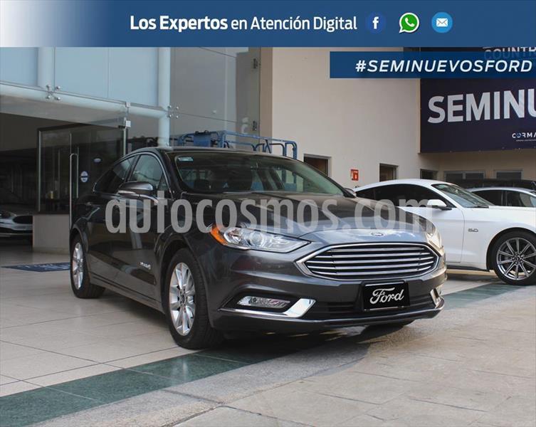 Ford Fusion SE LUX Hibrido usado (2017) color Gris Oscuro precio $375,000