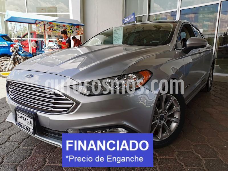 Ford Fusion SE Hibrido usado (2017) color Plata Estelar precio $79,000