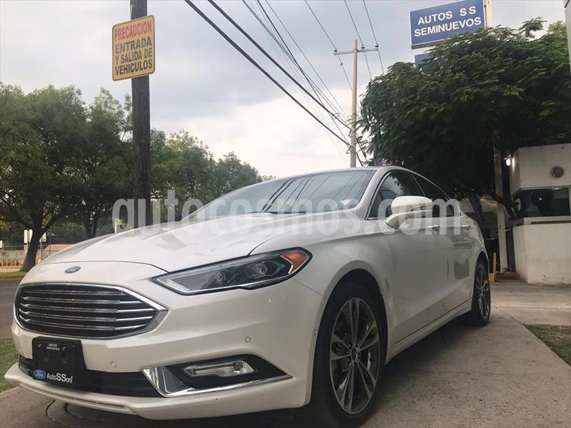 Ford Fusion 4P TITANIUM PLUS L4/2.0/T AUT usado (2017) color Blanco precio $335,000