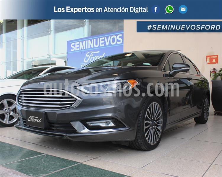 Ford Fusion SE Luxury Plus usado (2017) color Gris Oscuro precio $335,000