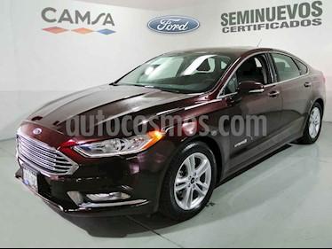 Ford Fusion 4p SE Luxury Hibrido Aut usado (2018) color Vino Tinto precio $429,000