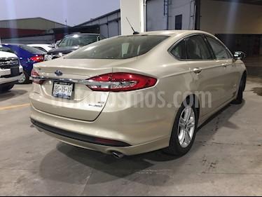 Ford Fusion SE LUX Hibrido usado (2018) color Oro Blanco precio $418,000