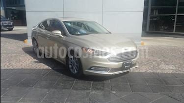 Ford Fusion SE LUX Hibrido usado (2017) color Oro Blanco precio $360,000