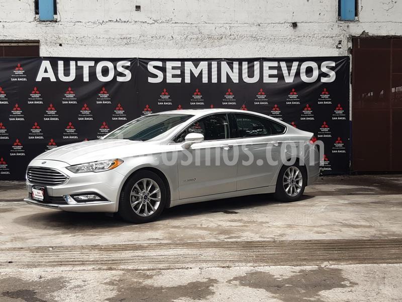 Ford Fusion SE Hibrido usado (2017) color Plata Estelar precio $340,000