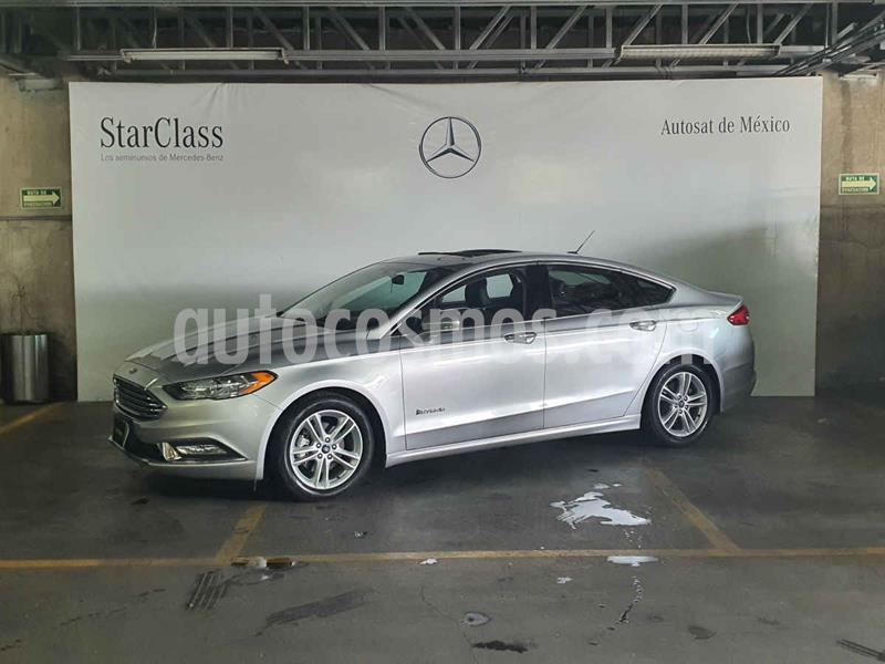 Foto Ford Fusion SE LUX Hibrido usado (2018) color Plata precio $409,000