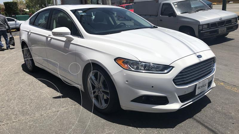 Foto Ford Fusion 4 pts. Titanium Plus, 2.0T, TA, piel, QC, GPS, f usado (2016) color Blanco precio $285,000