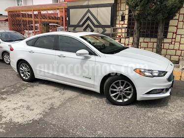 Ford Fusion SE Hibrido usado (2017) color Blanco Platinado precio $314,000