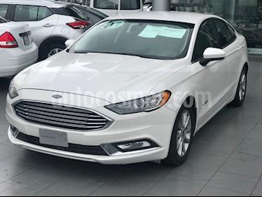 Foto venta Auto usado Ford Fusion SE Hibrido (2017) color Blanco Platinado precio $340,000