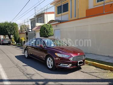 Foto venta Auto usado Ford Fusion SE LUX Hibrido (2018) color Vino Tinto precio $525,000