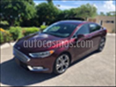 Ford Fusion Titanium usado (2017) color Rojo precio $370,000