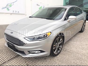 Foto venta Auto usado Ford Fusion Titanium (2017) color Plata Estelar precio $380,000