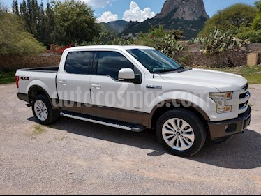 Ford Lobo Doble Cabina Lariat 4x4 usado (2015) color Blanco Oxford precio $495,000