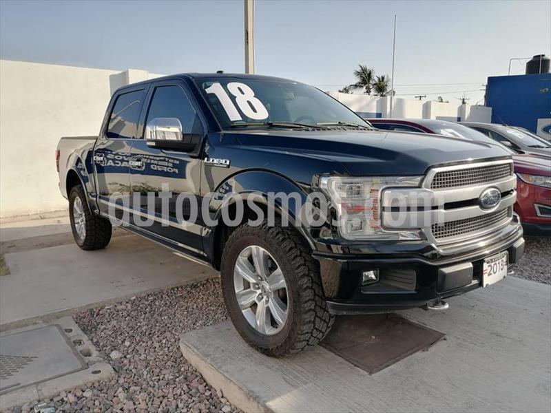 Ford Lobo Platinum Crew Cab 4x4 usado (2018) color Negro precio $730,000