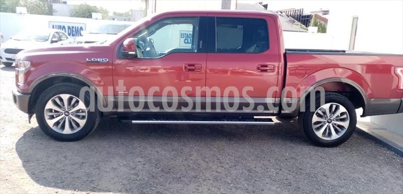 Ford Lobo Lariat Crew Cab 4x2 usado (2017) color Rojo precio $580,000
