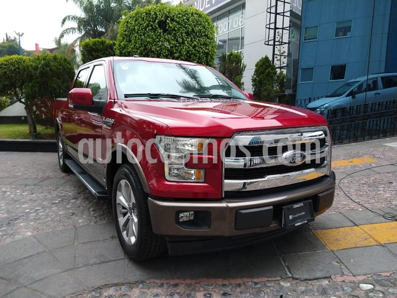 Ford Lobo Lariat 4x2 Cabina Doble usado (2017) color Rojo precio $600,000