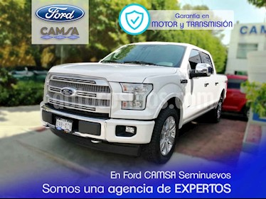 Foto venta Auto usado Ford Lobo Platinum 4x4 Cabina Doble (2017) color Blanco precio $719,900