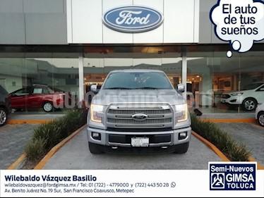 Foto venta Auto usado Ford Lobo Platinum Crew Cab 4x4 (2016) color Plata precio $555,000
