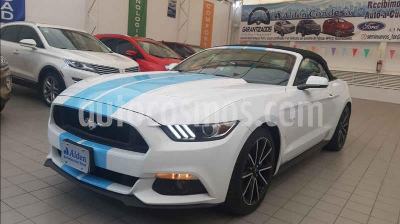 Ford Mustang GT 5.0L V8 Convertible Aut usado (2015) color Blanco precio $488,000