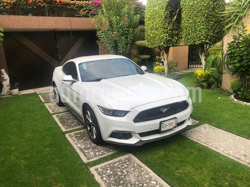 Ford Mustang GT 5.0L V8 Aut usado (2015) color Blanco precio $400,000