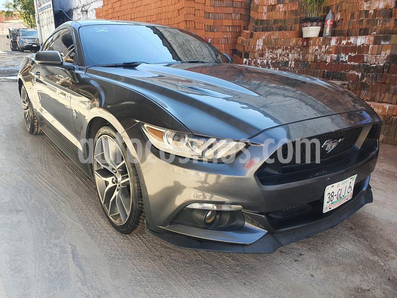 Ford Mustang Ecoboost Aut usado (2015) color Gris precio $295,000