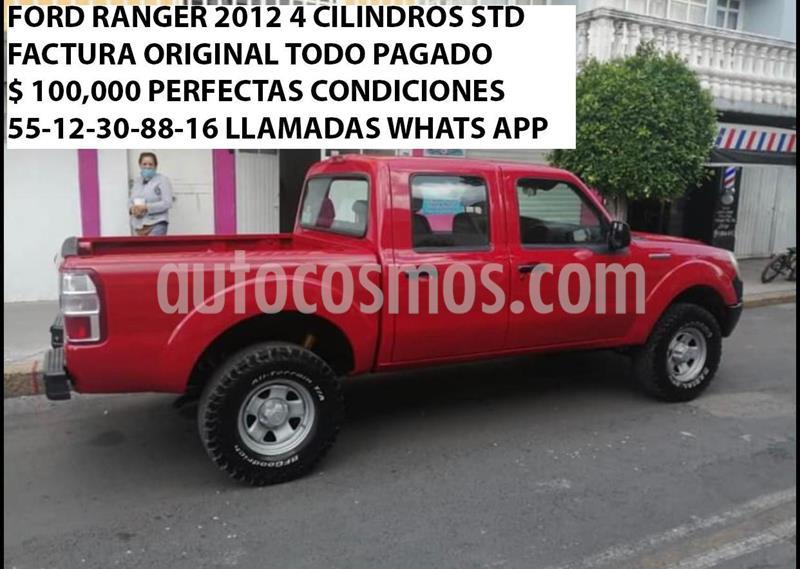 Ford Ranger XL Cabina Doble Ac usado (2012) color Rojo precio $100,000