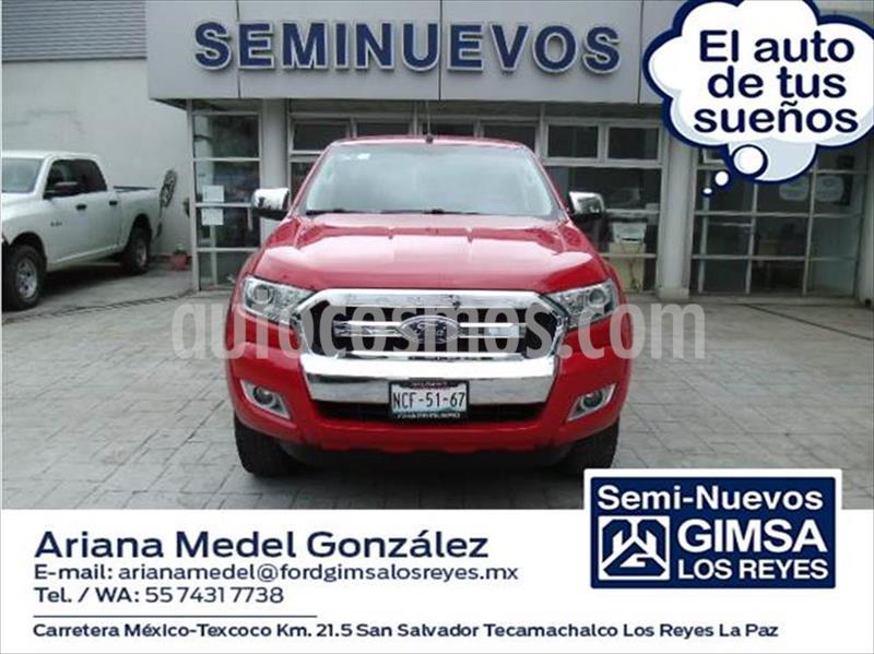 Ford Ranger XLT gasolina 4x2 Cabina Doble usado (2018) color Rojo precio $330,000