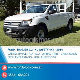 Foto venta Auto usado Ford Ranger XL 2.2L 4x2 TDi CS  (2014) color Blanco precio $795.000