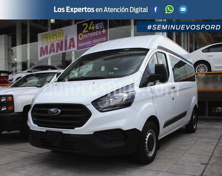 Ford Transit Custom VAN LARGA DIESEL A/A 2.2L usado (2020) color Blanco precio $579,000
