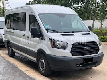 Ford Transit Gasolina 15 Pasajeros usado (2016) color Blanco precio $450,000