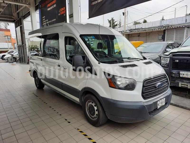 Ford Transit Gasolina Bus 15 Pasajeros usado (2015) color Blanco precio $210,000