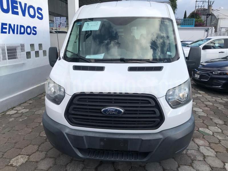 Ford Transit Gasolina Bus 15 Pasajeros usado (2015) color Blanco precio $398,000