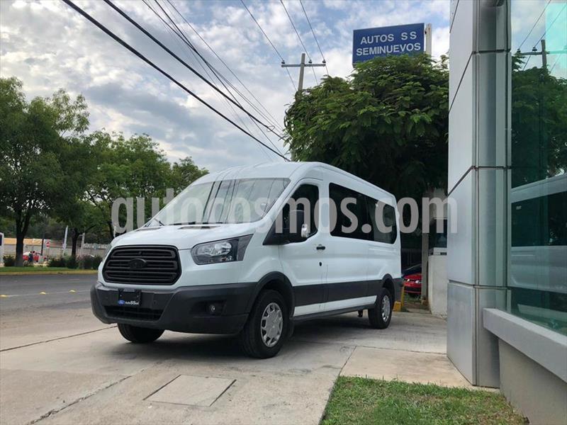 Ford Transit Diesel 15 Pasajeros usado (2019) color Blanco precio $585,000