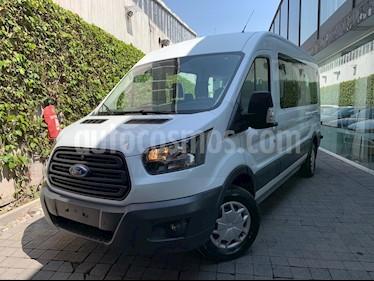 Ford Transit Gasolina Bus 15 Pasajeros usado (2019) color Blanco precio $550,000